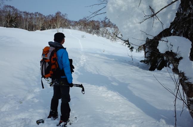 百松沢山・迷沢山雪山ハイク|平和霊園から平和の滝へ周回ルート(2月中旬)