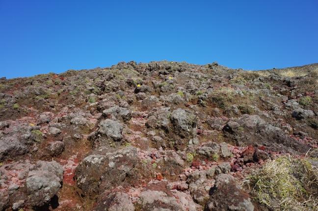 岩の上を歩く