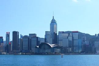 お昼の香港島の風景
