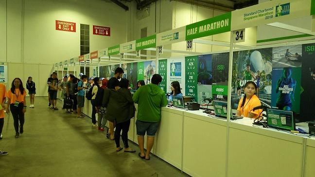 2018シンガポールマラソン受付会場EXPO