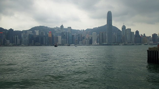 尖沙咀から香港島の眺め