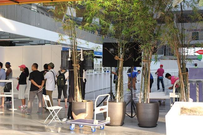 EXPO会場撤収の様子