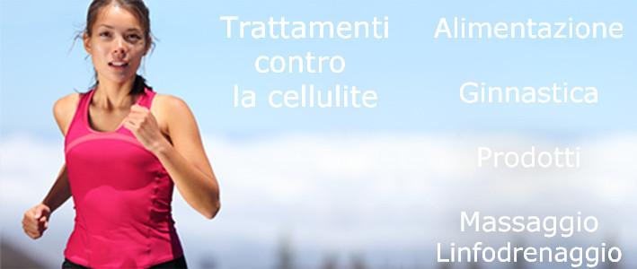 Ragazza ginnastica contro la cellulite