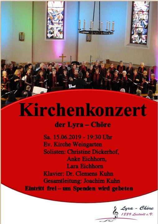 Lyra Lustadt; Kirchenkonzert; Weingarten;