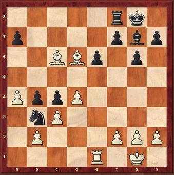 Mauelshagen - Gessinger 1:0 - Schwarz wickelt mit 24. ... Sxd4 25. Lxf8 Kxf8 26. cxSd4 Lxd4 27. Te2 falsch ab