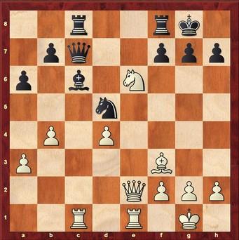 Dahlmann - Wagner 0:1 - Weiß opfert ein Springer auf e6 und verliert 22. ... fxe6 23.Dxe6+ Df7 24.Lxd5 Lxd5 25.Dxc8 Dxf2+ 26.Kh1 Dxg2#    0–1