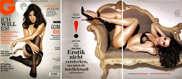 Natalia Avelon for GQ Magazin / James Dimmock