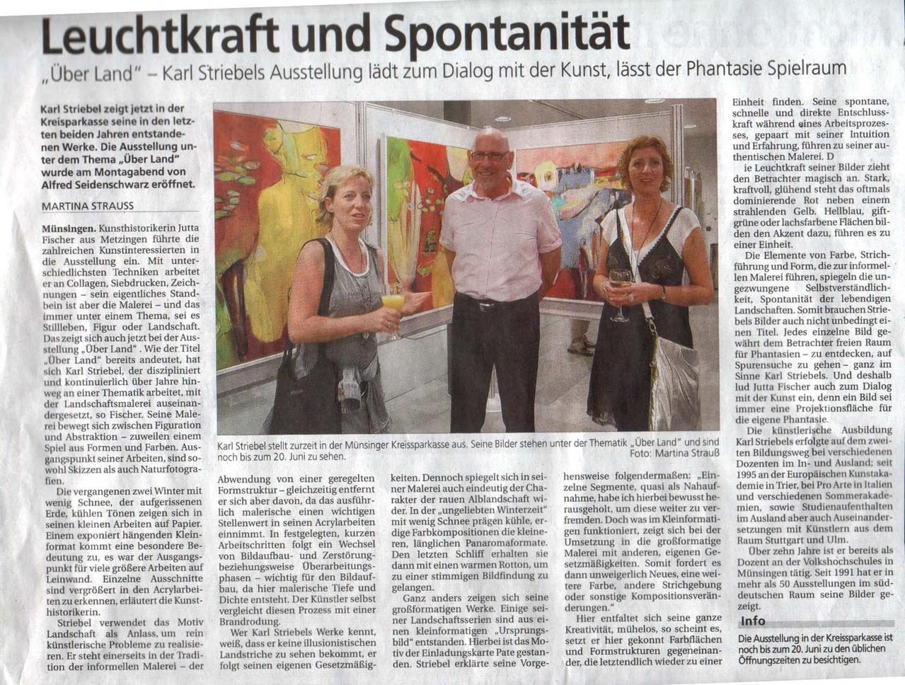 2008 -Alb-Bote  Ausstellung in der Kreissparkasse Münsingen