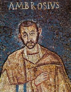 Saint Ambroise-mosaïque du Ve siècle-Basilique de Milan