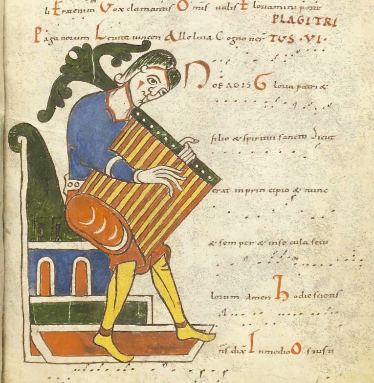 Tonaire d'un tropaire-prosaire-séquentiaire de Saint-Martial de Limoges, Paris, BnF, ms lat 1118, f° 110r, Xe-XIe s.