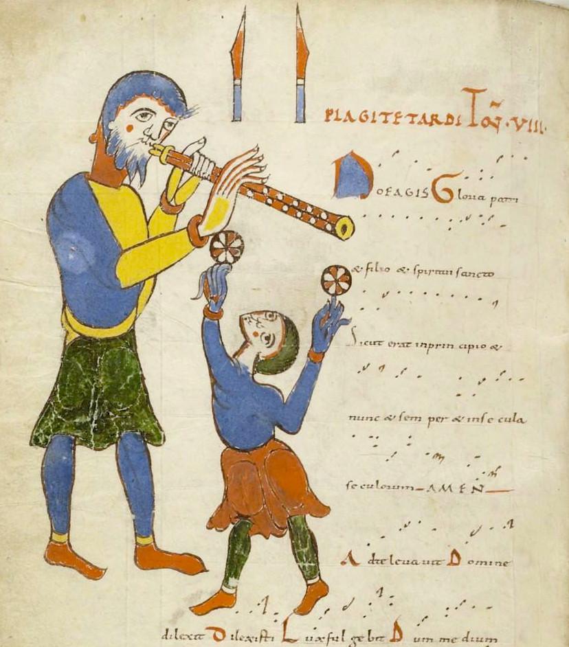 Tonaire d'un tropaire-prosaire-séquentiaire de Saint-Martial de Limoges, Paris, BnF, ms lat 1118, f° 112v, Xe-XIe s.