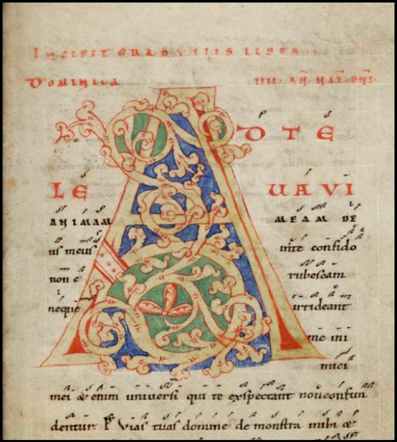 Saint-Gall, Stiftsbibliothek, ms 375, f°23, vers 1135