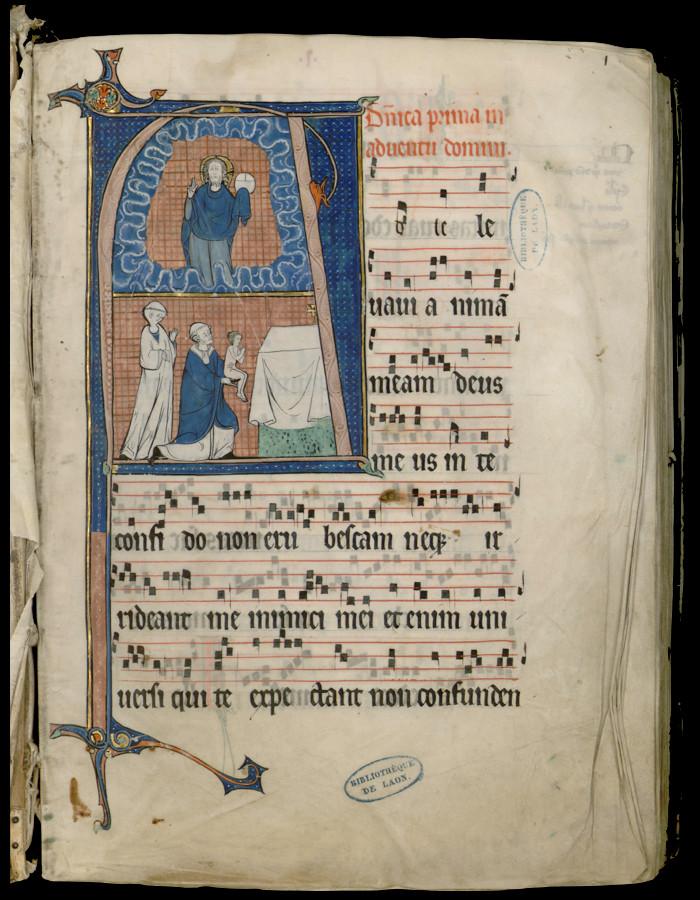 Laon, Bibliothèque municipale, ms 240, f°1r, XIIIe s.