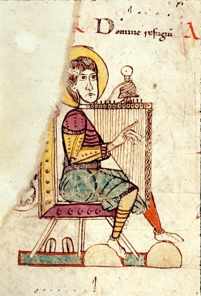 Tonaire d'un graduel de la cathédrale Saint-Étienne de Toulouse, British Library, ms Harley 4951, f°295v, fin XIe s.