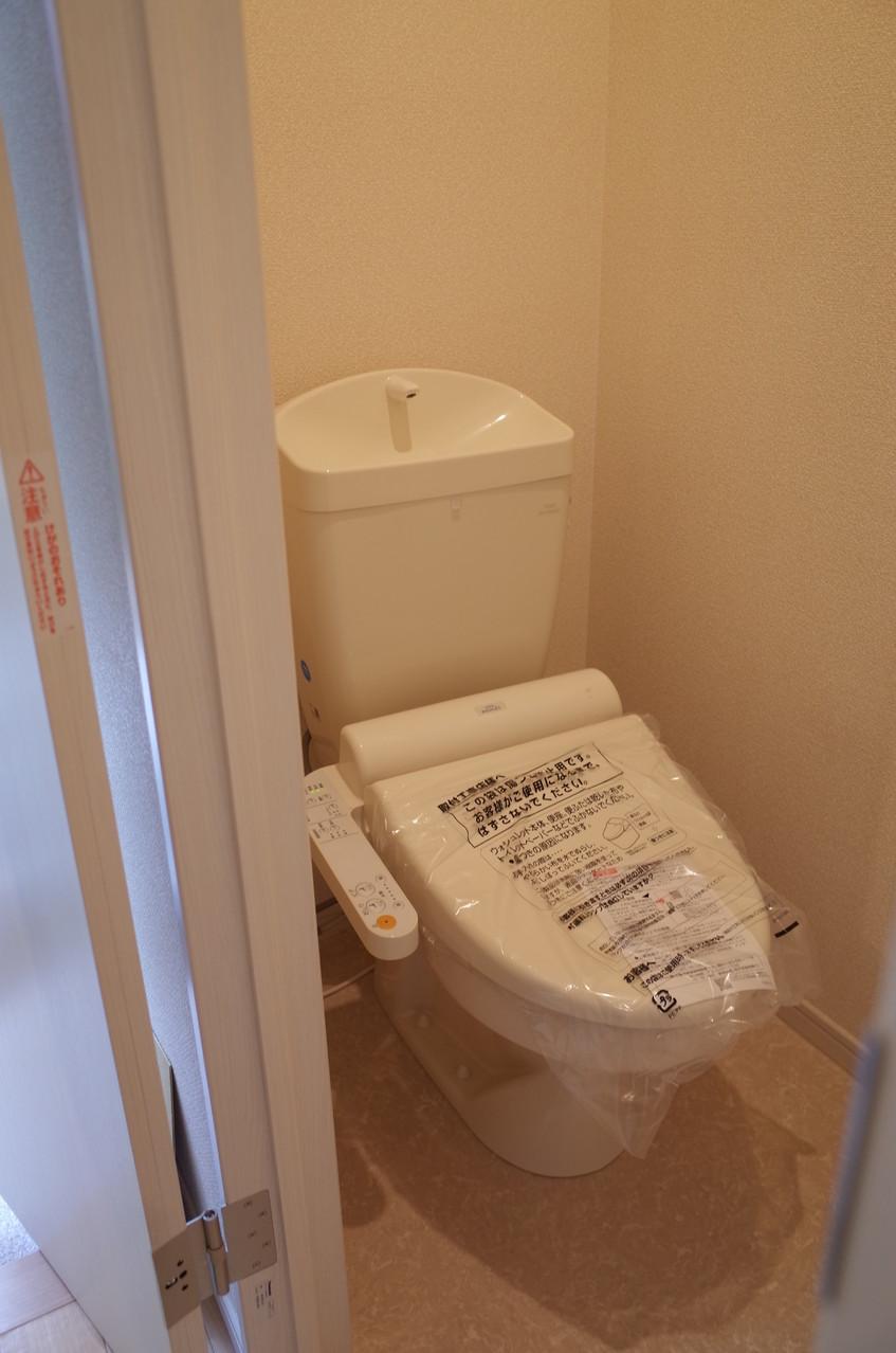 ウォシュレット機能付のトイレ