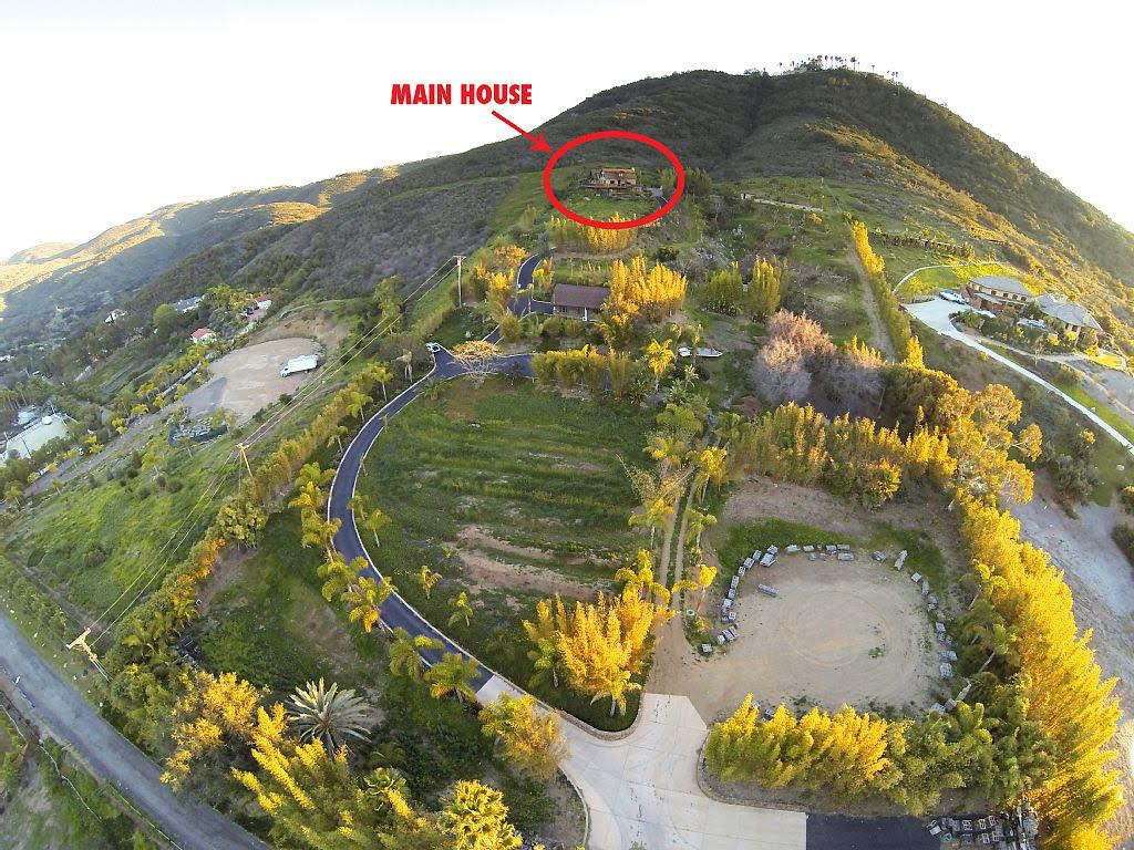 High view of 5 acre property with surrounding hills
