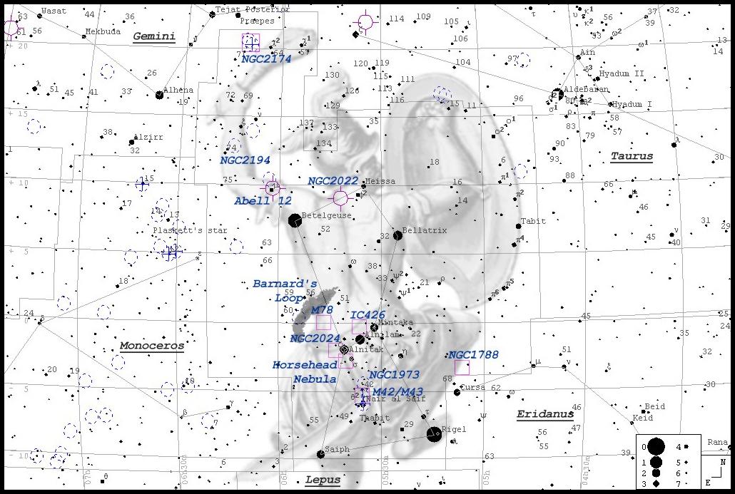 IC 434 • LBN 954, Sh-2 277  -  Aufsuchkarte MeixnerObservatorium