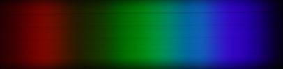 Spektrum der Aurora Flatfield-Folie - Foto: Gerd Neumann Jr.