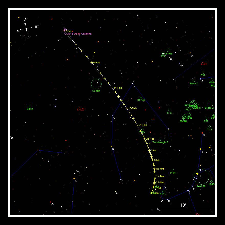 Catalina C/2013 US10  - Aufsuchkarte - MeixnerObservatorium
