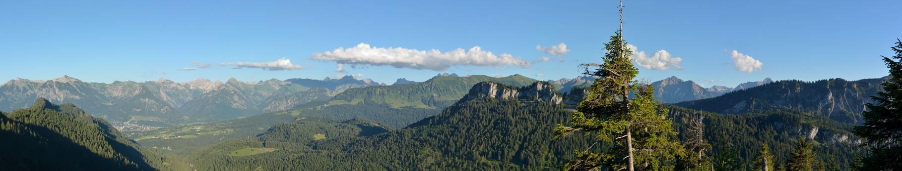 Oberstdorfer Bergpanorama