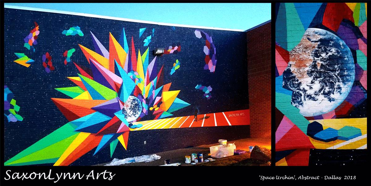 Space Urchin' Street Art Preston Rd, Dallas Texas