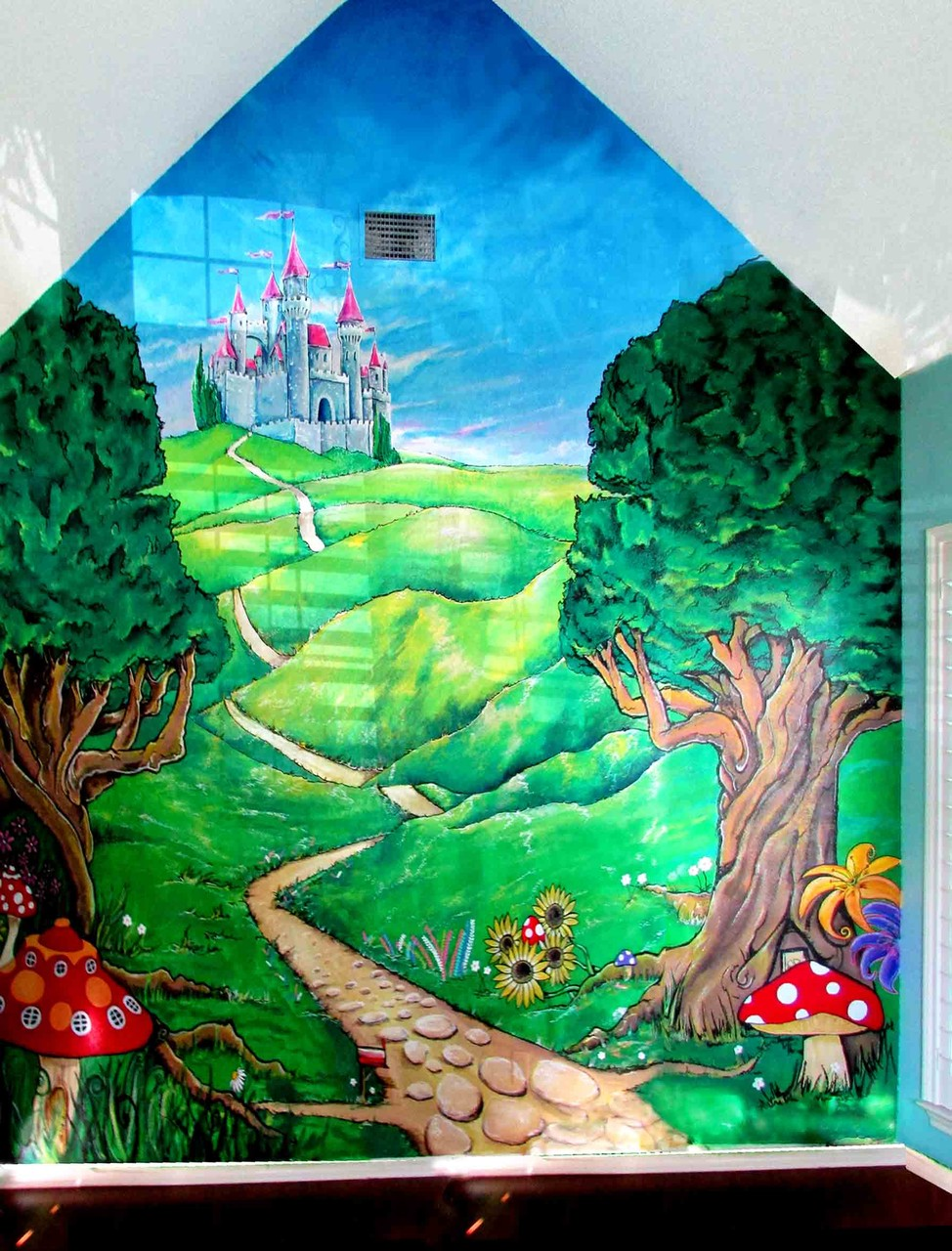 Fairy Tale Whimsical Castle Mural 15' x 12 Fort Worth Tx