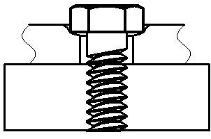 ボルト座面が陥没した状態のイメージ図です。