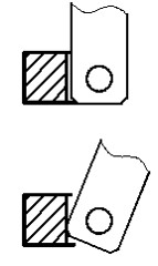 二山ジョイントと一山ジョイントの設計が悪いと回転させたときに干渉します。