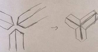 図3 斜めカット×3