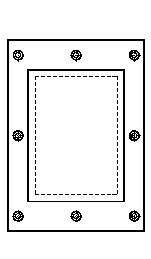 8本のボルトで締め付けるフランジの図
