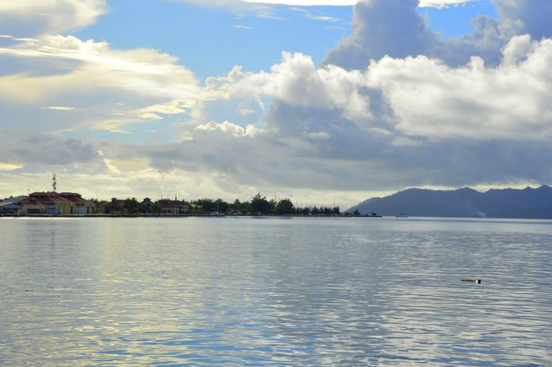 Anlauf auf Uturoa / Raiatea