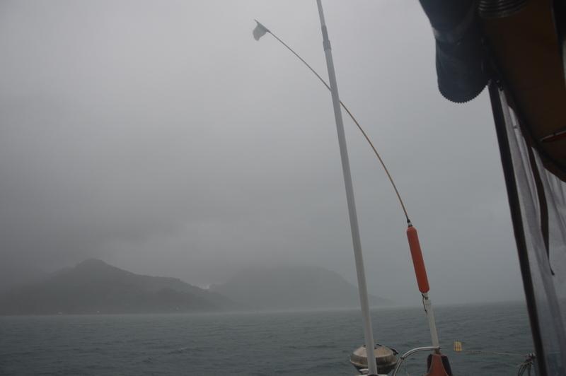 ...mit heftigen Stürmen, Regen und Gewittern