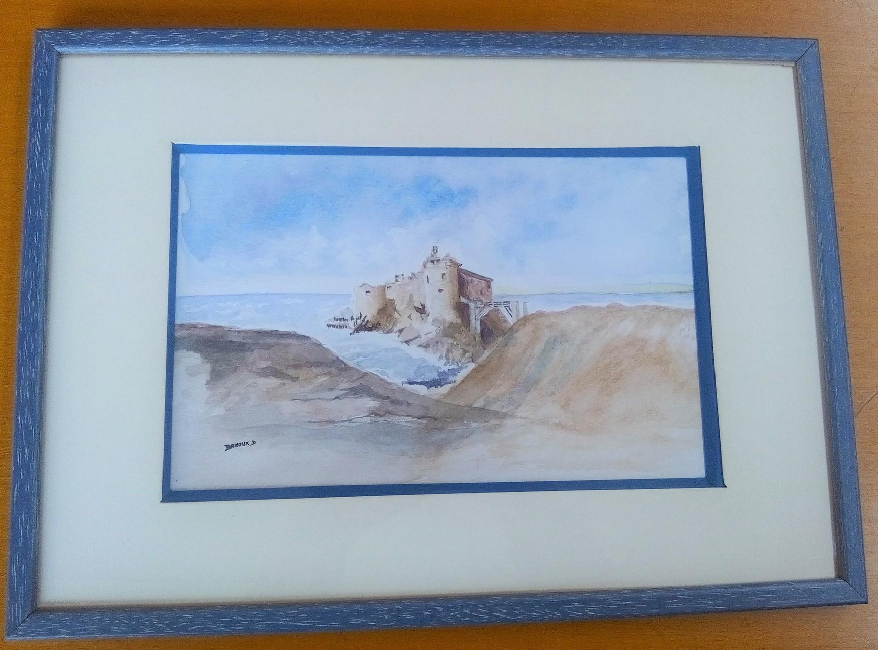 aquarelle de Danoux - sous biseau