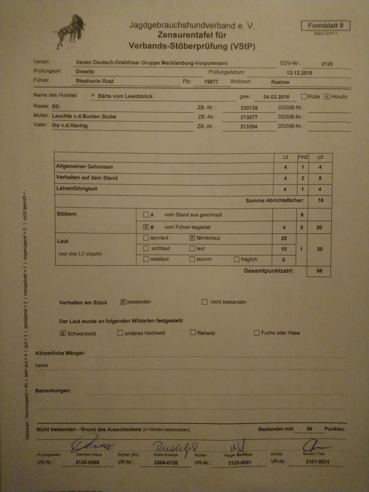 Prüfungszeugnis