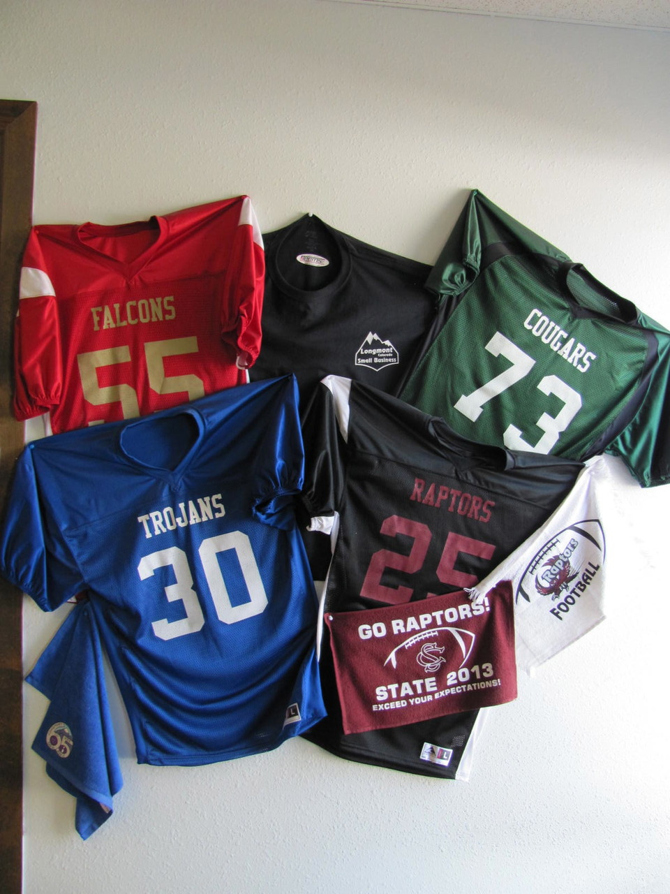 Names and Numbered Football Jerseys