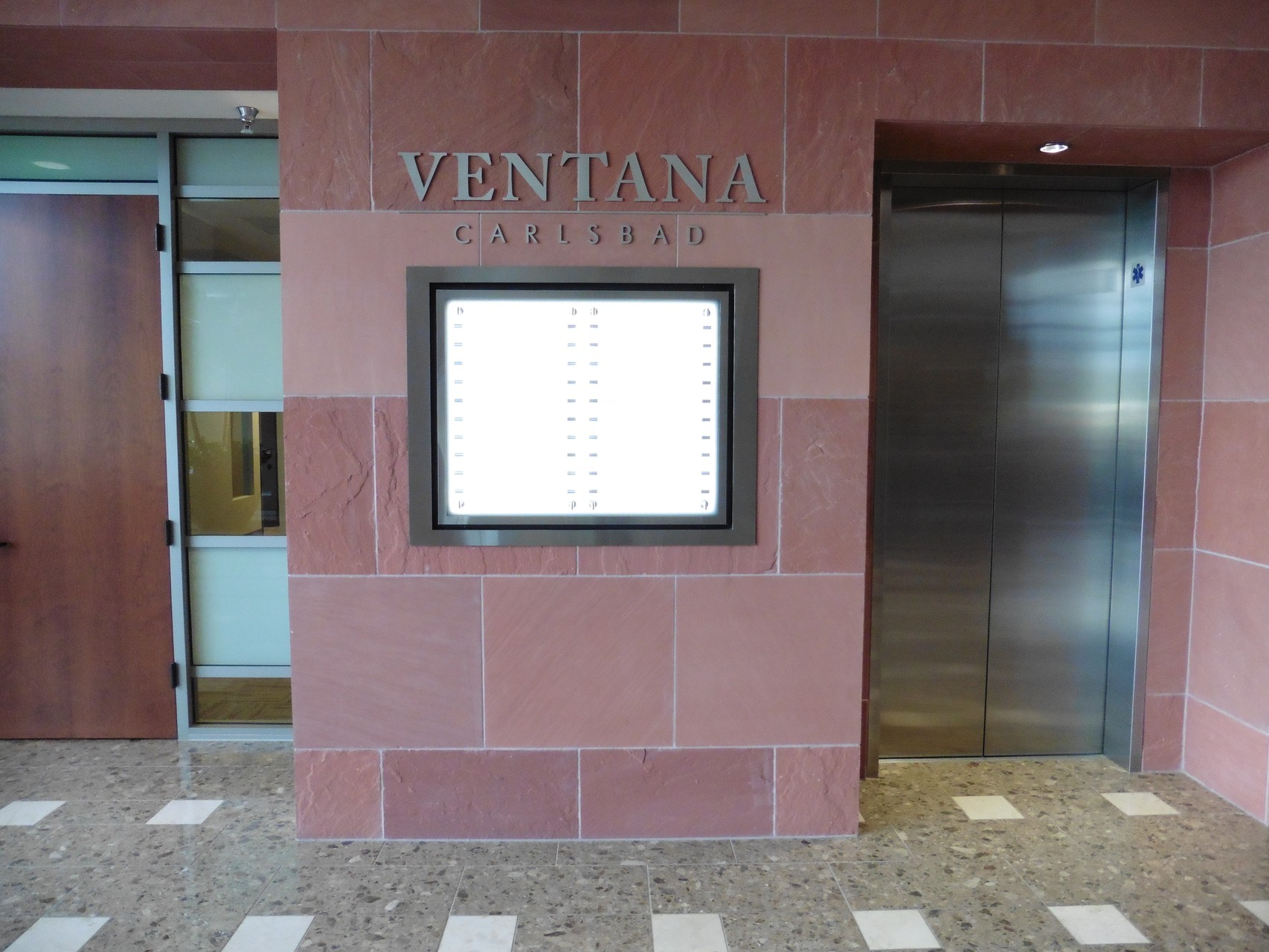Illuminated Directory with Stainless Steel Elements