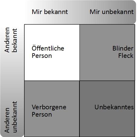 Johari-Fenster, Blinder Fleck, Persönlichkeitsentwicklung, Selbsterforschung. TalentKompass