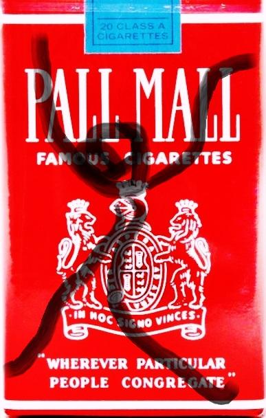 Pedro Meier – »Pall-Mall-Art – Nr.2« – over painted Pall Mall cigarette packs – 2017 – Basel Collection – Photo © Pedro Meier Multimedia Artist/ProLitteris Zürich. Visarte Solothurn – Ateliers: Gerhard Meier-Weg Niederbipp Bern Oberaargau – Olten –Bangkok