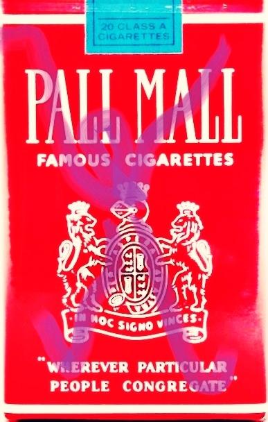 »Pall-Mall-Art – Nr. 5« – by Pedro Meier Multimedia Artist – Overpainted Pall Mall cigarette packs – 2017 – Photo © Pedro Meier / ProLitteris