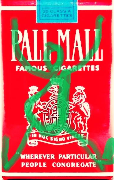 »Pall-Mall-Art – Nr. 6« – by Pedro Meier Multimedia Artist – Overpainted Pall Mall cigarette packs – 2017 – Photo © Pedro Meier / ProLitteris