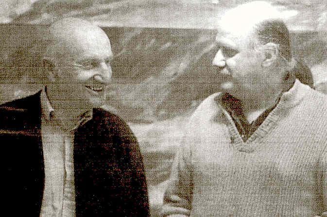 Gerhard Meier Schriftsteller Niederbipp alias Amrain – Pedro Meier Kunstmaler – in Ausstellung »Malen ist auch ein archaisches Unterfangen« 2010 – Räberstöckli Kulturverein Niederbipp – Archiv: Pedro Meier Multimedia Artist
