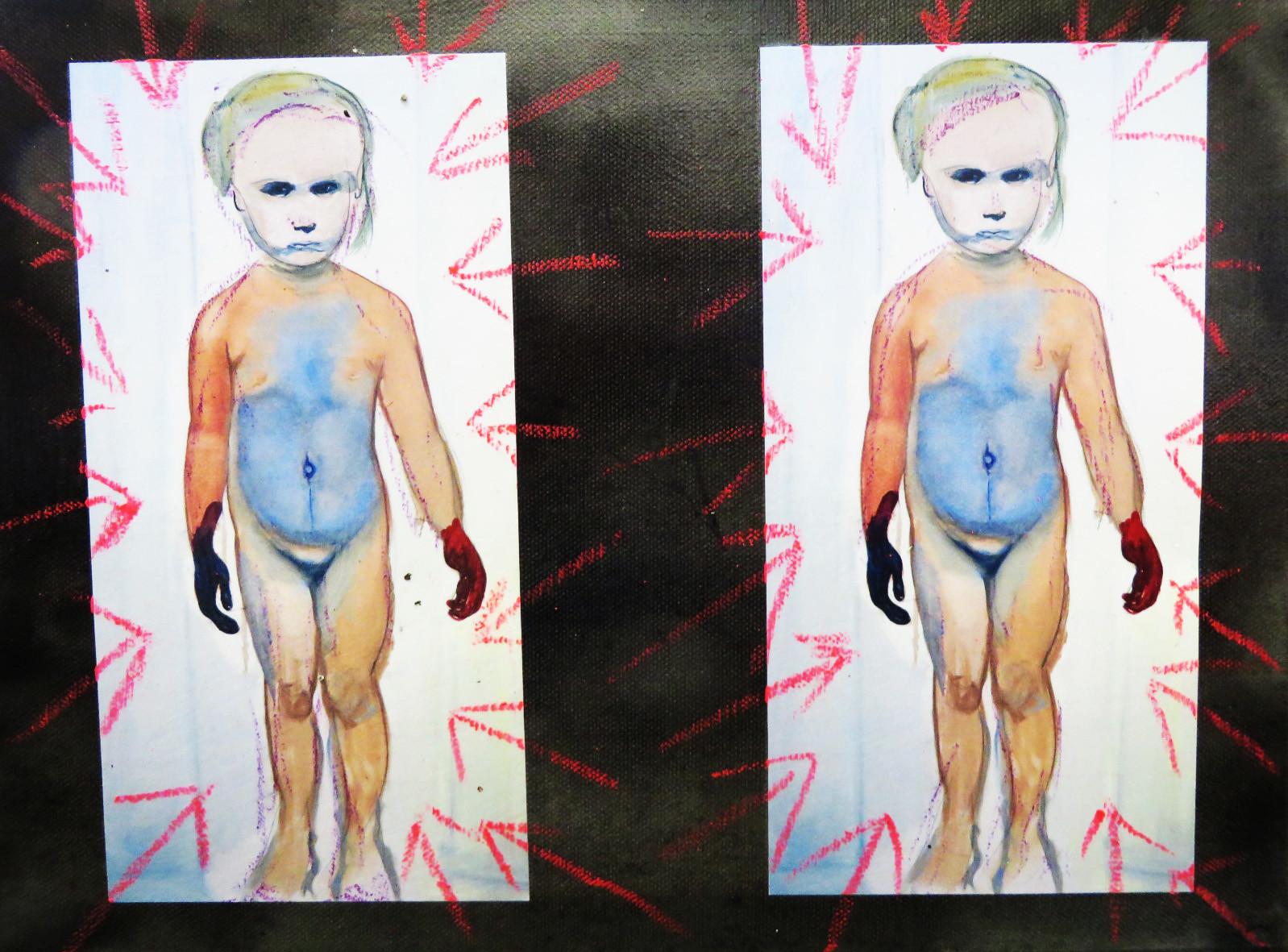 Pedro Meier – Einladungskarte Fondation Beyeler übermalt – Basel Ölstift 2016 – Foto © Pedro Meier / ProLitteris Multimedia Artist – Atelier: Gerhard Meier Weg Niederbipp – Olten – Bangkok