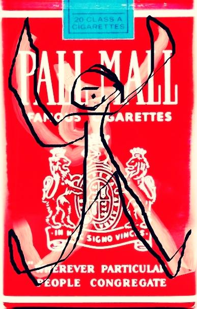 »Pall-Mall-Art – Nr. 1« – by Pedro Meier Multimedia Artist – Overpainted Pall Mall cigarette packs – 2017 – Photo © Pedro Meier / ProLitteris