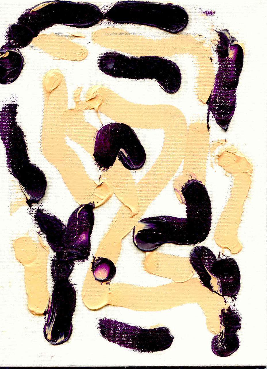 Pedro Meier Multimedia Artist – Zyklus von sieben Ölbildern – Nr. 5/7 – Öl auf Leinwand  – 24x18 cm – 2015 – Foto © Pedro Meier / ProLitteris