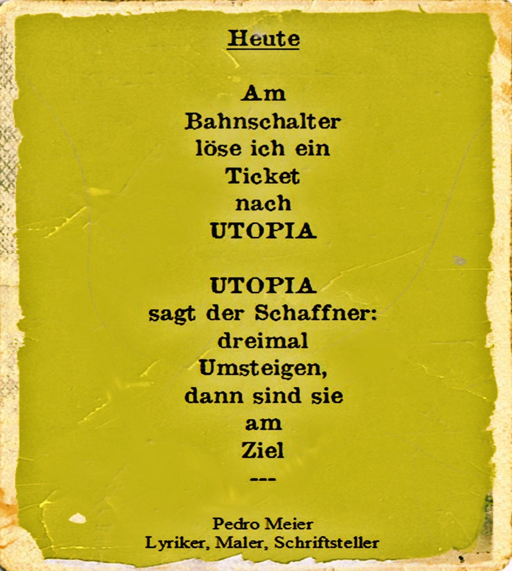Pedro Meier Schriftsteller 6 Gedichte Berliner Polaroids