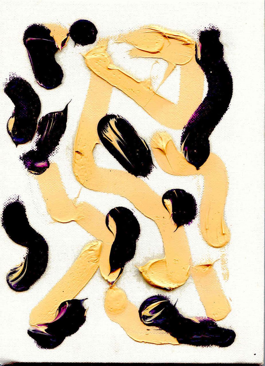 Pedro Meier Multimedia Artist – Zyklus von sieben Ölbildern – Nr. 2/7 – Öl auf Leinwand  – 24x18 cm – 2015 – Foto © Pedro Meier / ProLitteris
