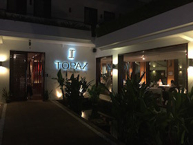 プノンペン市内の高級レストラン「TOPAZ」