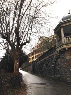Sint Blasien, vue sur le sanatorium où Karl Leisner fut arrêté en 1939.