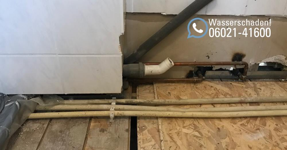 Wasserschaden Reparatur in einem Mehrfamilienhaus in Aschaffenburg / Wasserschaden in einer Wohnung in Aschaffenburg