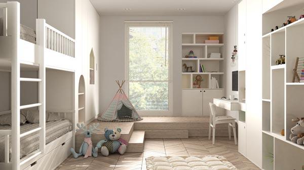 Kinderzimmer ohne Möbelfolien